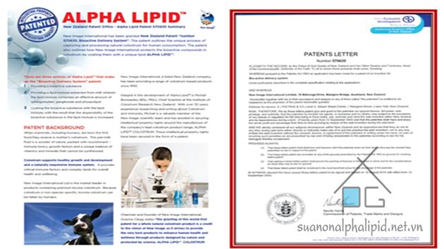 công nghệ độc quyền Alpha Lipid của tập đoàn new image