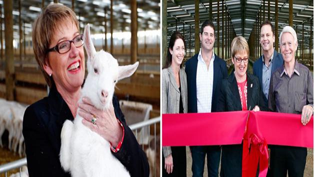 Bên trái là bộ trưởng An toàn Thực phẩm Jo Goodhew, chủ tịch Tập đoàn New Image ngài Graeme Clegg (bên phải ngoài cùng)