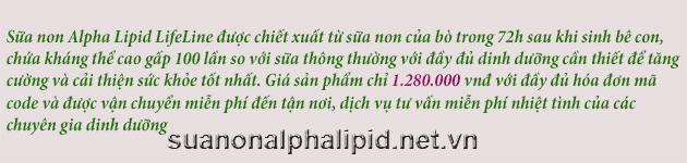 sữa non alpha lipid chính hãng giá 1.280.000