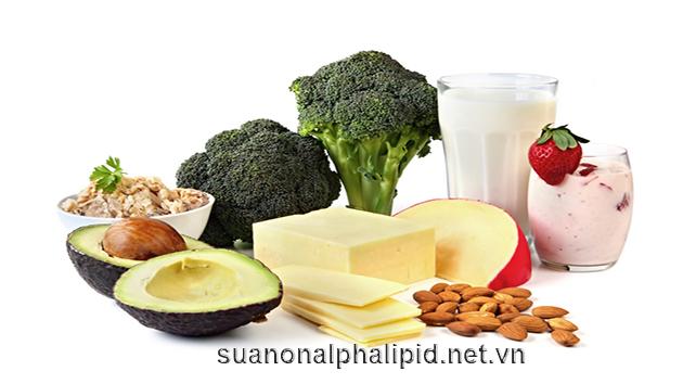 Thức ăn nhiều canxi