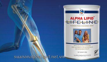 Sữa non Alpha Lipid cũng cấp canxi đầy đủ cho nhu cầu trong ngày