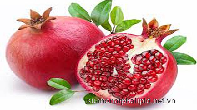 lựu làm tăng lượng chất chống oxy hóa trong máu bằng 35%.