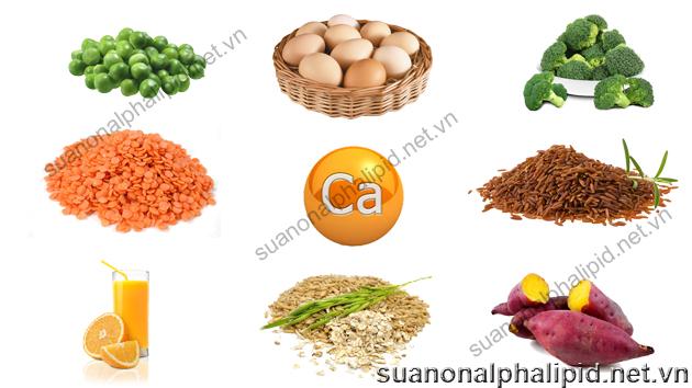 Các loại rau xanh và đậu là nguồn bổ sung canxi lành mạnh nhất ngoài ra chúng còn có các lợi thế mà sản phẩm từ sữa không có được, chúng chứa chất chống oxy hóa, chất xơ, carbohydrate phức tạp, không có cholesterol