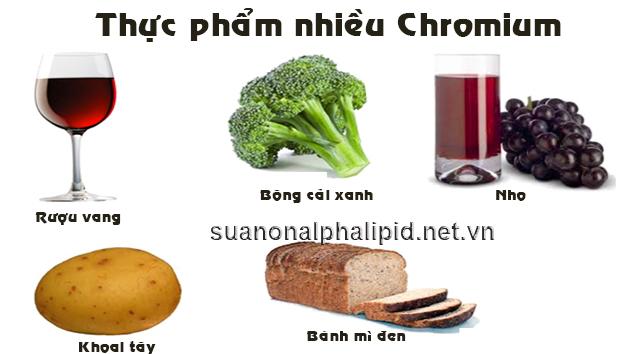 thực phẩm nhiều Chromium