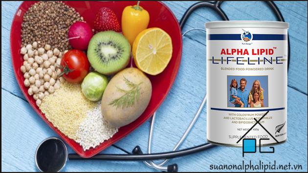 giảm cholesterol xấu với sữa non alpha lipid