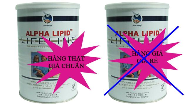 phân biệt sữa non alpha lipid thật giả