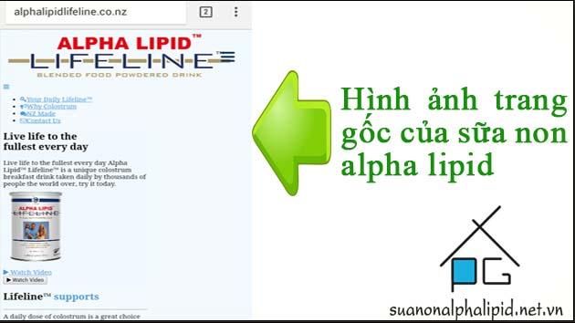 trang web goc cua sua non alpha lipid