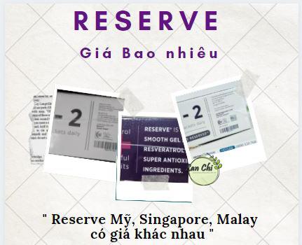 reserve giá bao nhiêu