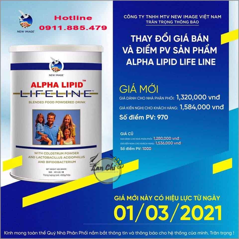giá sữa non alpha lipid mới nhất