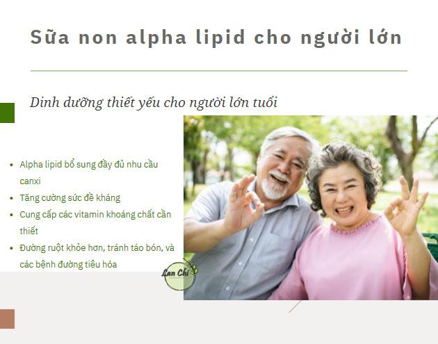 sua non alpha lipid cho nguoi gia